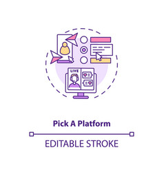 Pick platform for chatting with partner concept vector