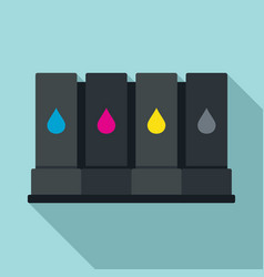 Printer cartridge icon flat style vector