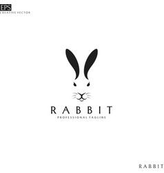 rabbit head logo template vector image