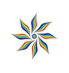 Rainbow flower sign 1004 vector