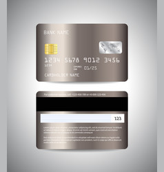 realistic detailed credit cards set with bronze vector image