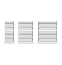 realistic mockups store shelf product showcase vector image