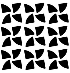 Repeatable pattern with rotating shapes seamless vector