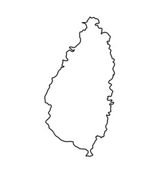saint lucia map of black contour curves of vector image