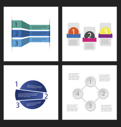Set of infographic template for your presentation vector