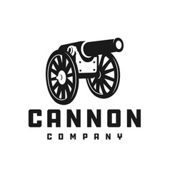 Silhouette cannon logo vector