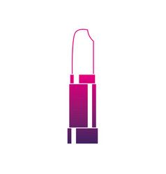 Silhouette fashion lipstick makeup to glamour vector