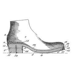 single shoe vintage engraving vector image