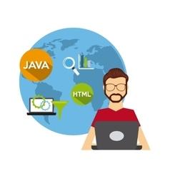 software developer and programmer vector image