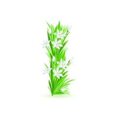 spring flowers alphabet i vector image