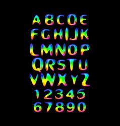 Stylized splashy font vector
