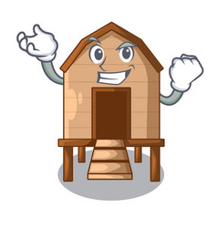 Successful chicken coop isolated on a mascot vector