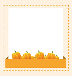 thanksgiving frame with pumpkin style vector image