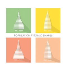 The 2 Types of Population Pyramids Graphs vector