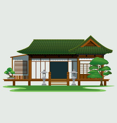 traditional house in japan vector image