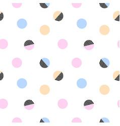 trendy abstract polka dot abstract seamless vector image