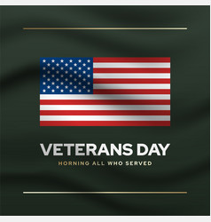 veterans memorial day social media banner template vector image