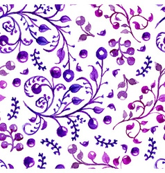 watercolor natural seamless pattern vector image