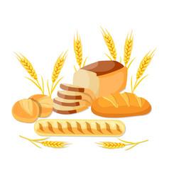 Whole wheat bread vector