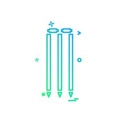 wicket cricket play icon design vector image