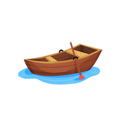 wooden fishing boat on a white vector image