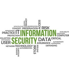 word cloud information security vector image