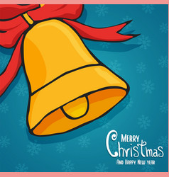 year bell decoration cartoon card vector image