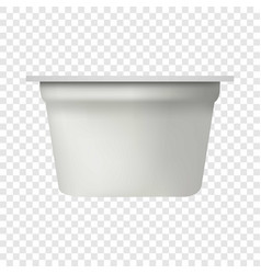 Yogurt packing mockup realistic style vector