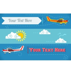 Airplane Banner Vehicle 2D vector image