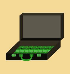 flat icon on stylish background case of money vector image