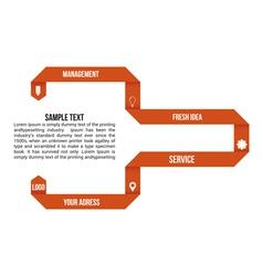 Orange infographic elements vector image