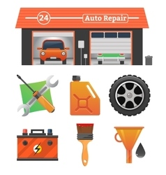 Auto repair icons set vector image