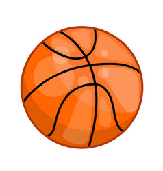 basketball ball isolated vector image vector image