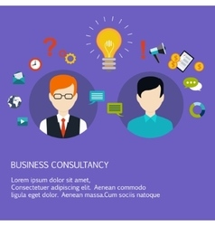 Business advice coaching training on business vector image