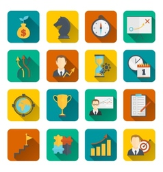 Business strategy planning icon flat vector image vector image