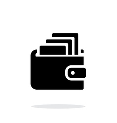 Cash in wallet icon on white background vector image