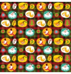 Christmas seamless background plaid pattern vector image