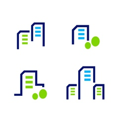 real estate apartment icons vector image