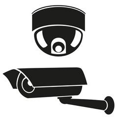 video surveillance camera 06 vector image vector image