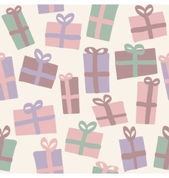 Christmas presents seamless pattern vector image vector image
