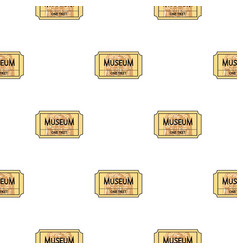 ticket to the museum icon in cartoon style vector image