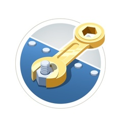 Wrench screw nut vector image vector image