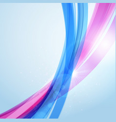 abstract blue wave background for poster flyer vector image vector image
