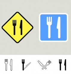 dining signs vector image vector image