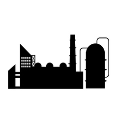 Industry icon silhouette vector image