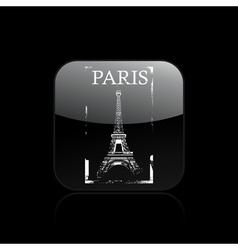 paris icon vector image
