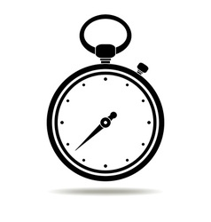Stopwatch black icon vector image vector image
