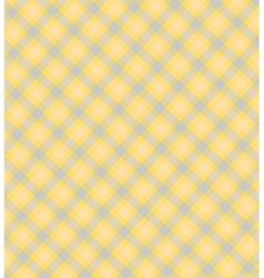 Tender checkered yellow blue background vector image vector image