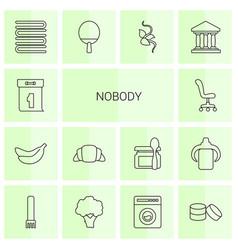 14 nobody icons vector