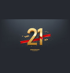 21st year anniversary background vector